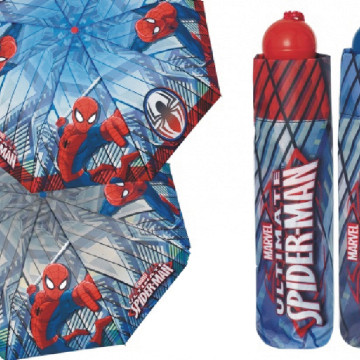 Spiderman Kinder Taschenschirm, anthrazit